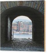 Oslo Castle Archway Wood Print by Carol Groenen