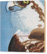 Osprey Eye Wood Print