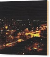 Ostrava At Night Wood Print