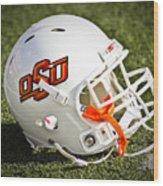 Osu Football Helmet Wood Print