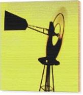 Otoe County Windmill Wood Print