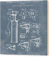 Otoscope Patent 1927 Blue Grunge Wood Print