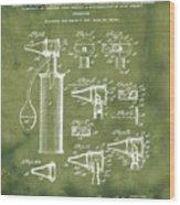 Otoscope Patent 1927 Grunge Wood Print