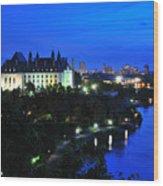 Ottawa At Night Wood Print