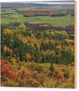 Ottawa River Valley In Fall At Tawadina Lookout At End Of Blanch Wood Print