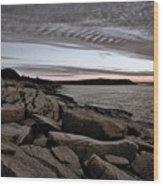 Otter Cliffs Dawn #5 Wood Print