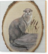 Otter - Growing Curiosity Wood Print
