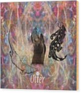 Otter Moon Wood Print