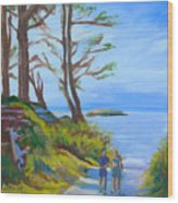Otter Rock Marine Garden Path Wood Print