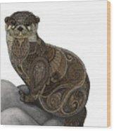 Otter Tangle Wood Print