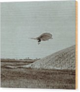 Otto Lilienthal Gliding Experiment Wood Print