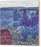 Otto Trail Overlook Wood Print