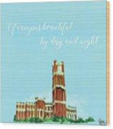 Ou Chant - Clock Tower Wood Print