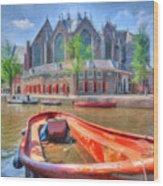 Oude Kerk Wood Print