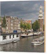 Oudeschans And Montelbaanstoren. Amsterdam. Netheralnds. Europe Wood Print
