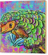 Pangolin Wood Print