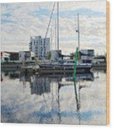 Oulu From The Sea 1  Wood Print