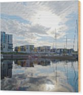 Oulu From The Sea 2 Wood Print