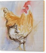 Our Buff Rooster  Wood Print