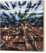 Our City In The Andes Wood Print