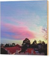 Our Cloud Sunset 12-08 Wood Print
