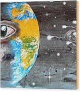 Our Cosmic Origin Wood Print by Paulo Zerbato