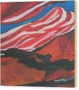Our Flag Their Oil Wood Print