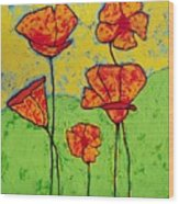 Our Golden Poppies Wood Print