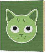 Our Green Cat Birka Wood Print