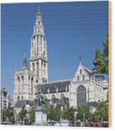 Our Lady Cathedral Antwerp Wood Print