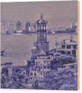 Our Lady Of Guadalope In Puerto Vallerta Mexico. Banderas Bay. Wood Print
