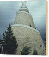 Our Lady Of Lebanon Statue In Harissa Wood Print