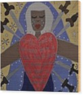 Our Lady Of Sorrows Wood Print by Angela Yarber