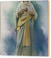 Our Lady Of The Immaculate Heart Wood Print