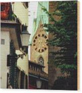 Our Ladys Minster Church In Zurich Switzerland Wood Print