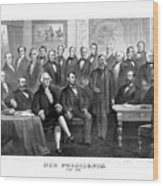 Our Presidents 1789-1881 Wood Print