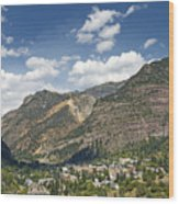 Ouray Colorado Nestled In The San Juan Mountains Wood Print