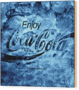Out Of This World Coca Cola Blues Wood Print
