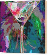 Out Of This World Martini Wood Print