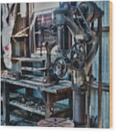 Out Of Work Wood Print by Sandra Bronstein