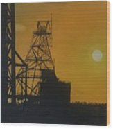 Outback Mines Wood Print