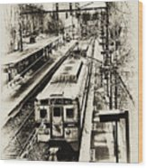 Outbound Train Wood Print