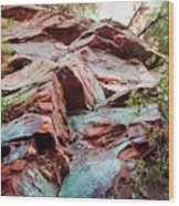Outcrop At Wildcat Den Wood Print by Jame Hayes