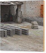 Outdoor Brickyard In Cotacachi Wood Print