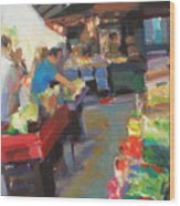 Outdoor Market Wood Print