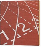 Outdoor Running Track Wood Print