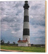 Outer Banks Beach Lighhouse  Wood Print