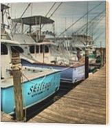 Outer Banks Fishing Boats Waiting Wood Print