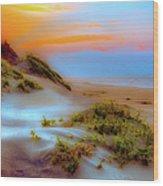 Outer Banks Soft Dune Sunrise Fx2 Wood Print