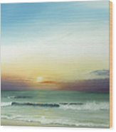 East Coast Sunrise Wood Print